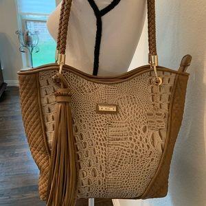 M.C. shoulder bag crocodile Design quilted Large